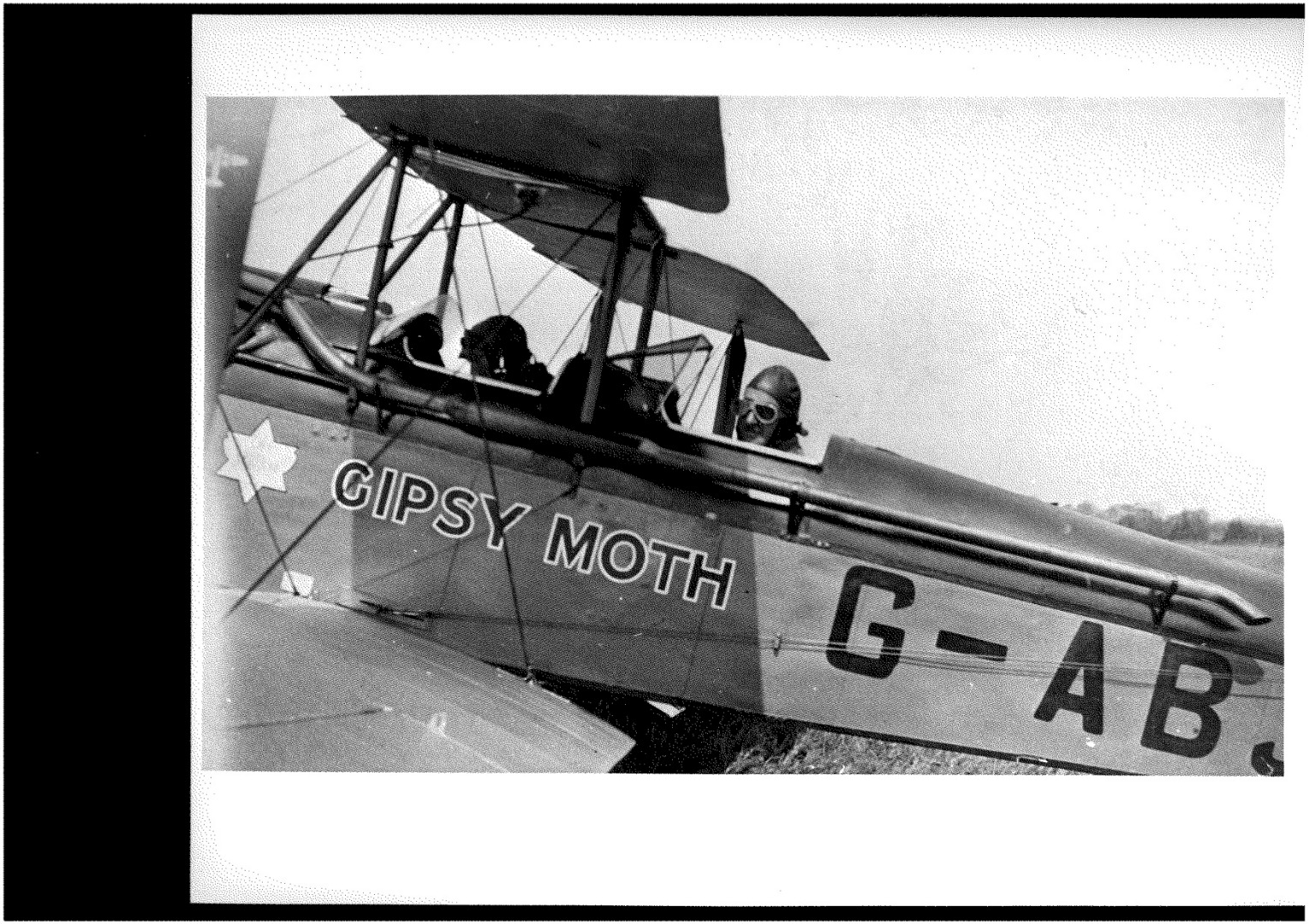 Sir Alan Cobham at the controls of Gypsy Moth. He gave aa aerobatic display at the opening of the airfield 1932.jpg (1)