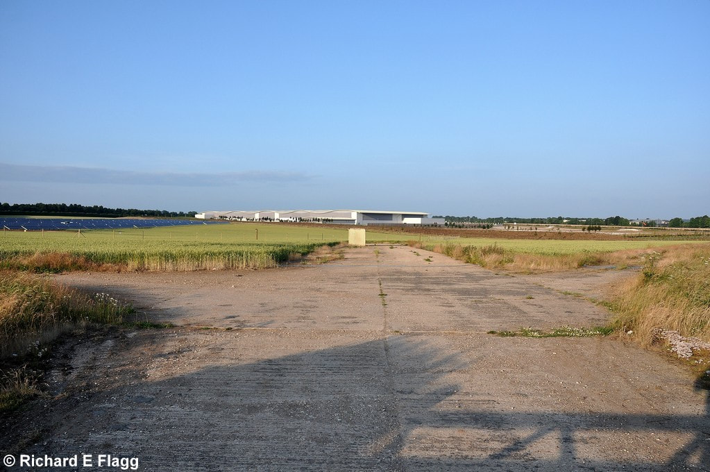 002Taxiway at the west of the airfield. Looking east from Red Post Lane - 10 July 2013.png